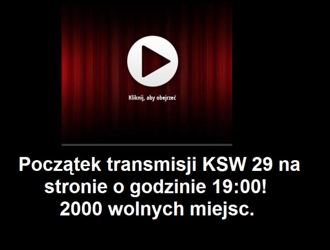 KSW 29 STREAM ONLINE ZA DARMO